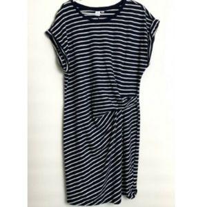 Gap Women's Gather Front Waist Dress XL Striped